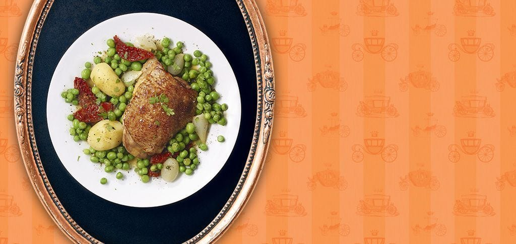 FREE RANGE CHICKEN WITH SPRING VEGETABLES